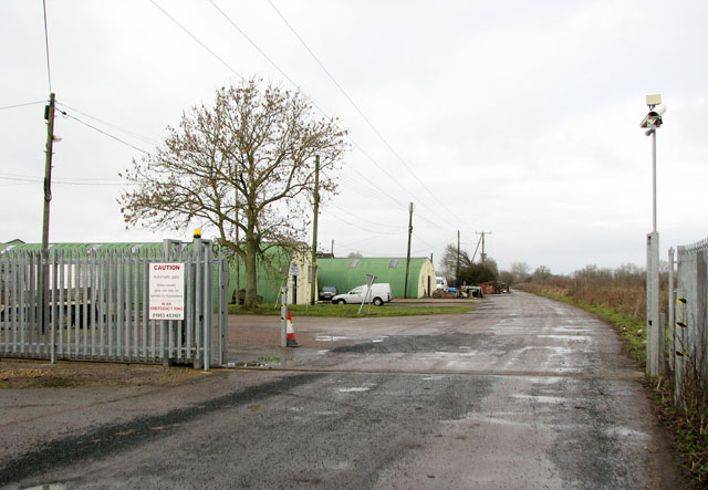 Entrance to the industrial estate in Bunn's Bank Road