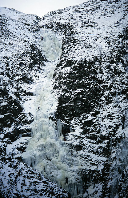 Ice climbing on the Grey Mare's Tail