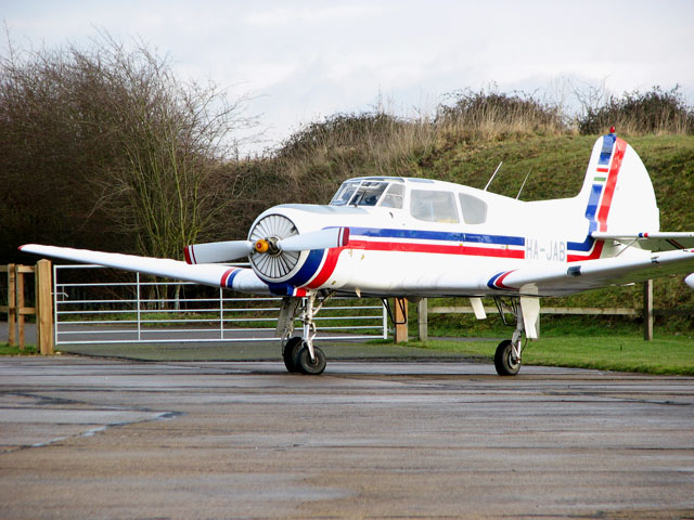 Private aircraft at Old Buckenham Airfield