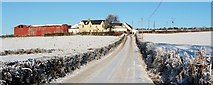 NS3578 : Low Milndovan Farm by Lairich Rig