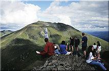 NN6240 : At the summit of Bheinn Ghlas by Walter Baxter