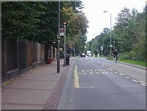 TQ2274 : Bus stop on Putney Heath by David Howard
