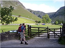 SD9163 : Entrance to Gordale Beck path by Raymond Knapman