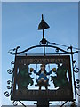 TR2551 : A close-up of The Royal Oak Pub Sign  by David Anstiss