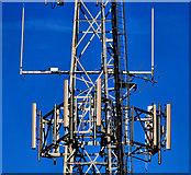 J3630 : Drinnahilly mast near Newcastle (3) by Albert Bridge