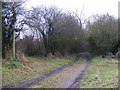 TM3266 : Footpath to Low Road & Entrance to Sandpit Farm by Adrian Cable