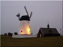 SD3727 : Lytham Windmill and former lifeboat station by Alexander P Kapp