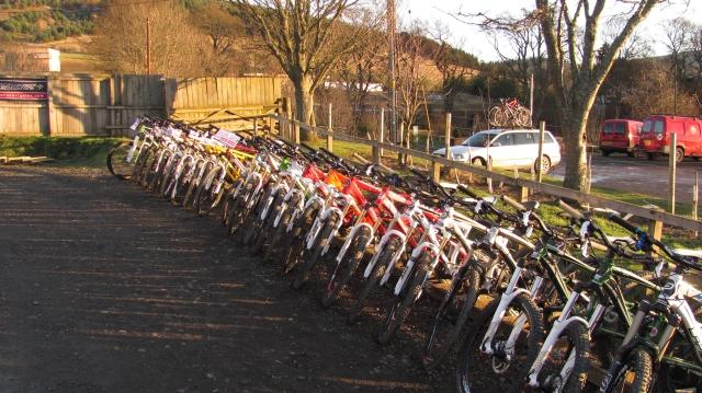 Hire bikes, Glentress