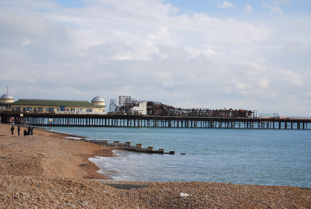 Fire damage, Hastings Pier