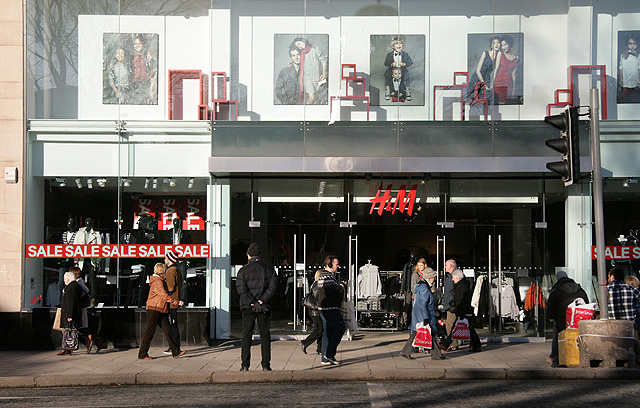 The H&M Store in Princes Street, Edinburgh