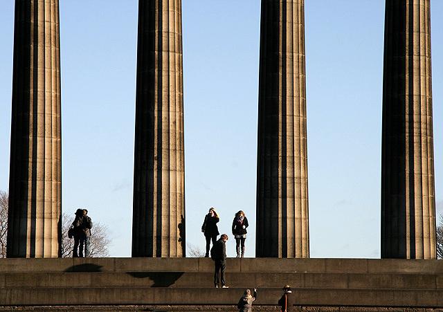 National Monument columns on the Calton Hill, Edinburgh