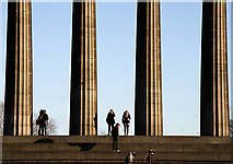NT2674 : National Monument columns on the Calton Hill, Edinburgh by Walter Baxter
