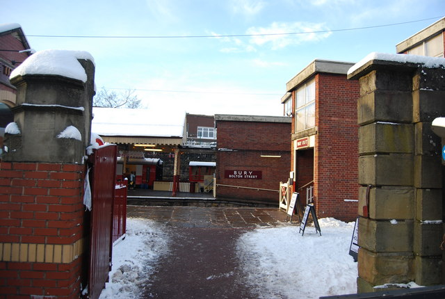Bury Bolton Street Station entrance