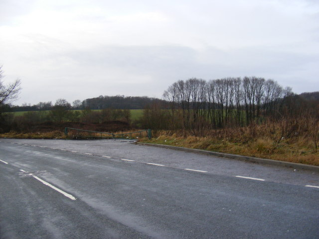 Field entrance off the B1119 Rendham Road