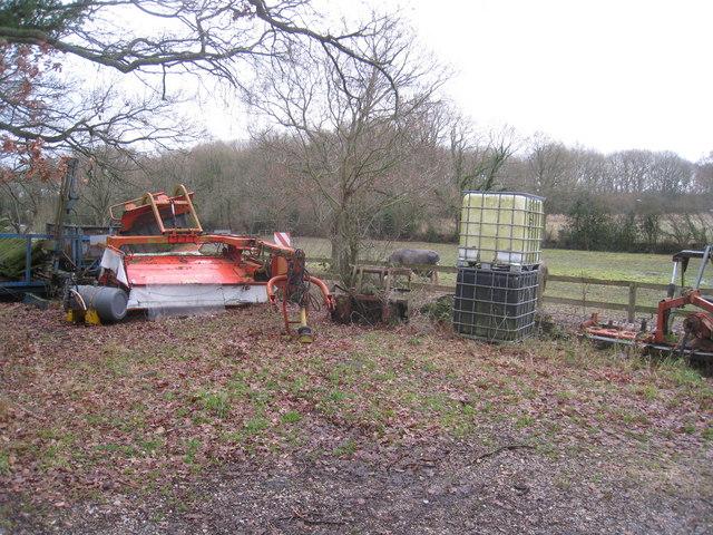 Retired farm equipment - Pamber Green