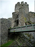 SH7877 : Entrance bridge to the Conwy Castle by Phil Champion