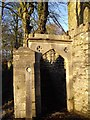 ST0674 : Entrance to churchyard, Bonvilston by John Lord