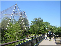 TQ2783 : London Zoo: bridge over the Regent's Canal, leading to the Aviary by Helena Hilton