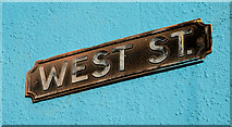J4874 : West Street sign, Newtownards by Albert Bridge