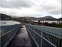 SH7877 : South side of cycle path bridge, Llandudno Junction by Phil Champion
