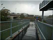 SH7877 : North side of cycle path bridge, Llandudno Junction by Phil Champion
