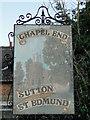 TF3613 : Village sign at Sutton St Edmund by Adrian S Pye