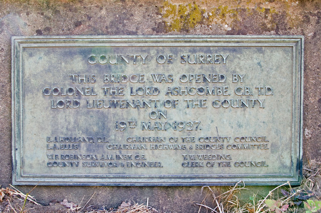 Plaque, Deepdene Bridge
