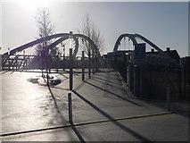 TQ1885 : Wembley: footbridge over Wembley Stadium station by Chris Downer