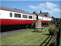 NZ9208 : Railway  Carriages  on  a  dismantled  line. by Martin Dawes