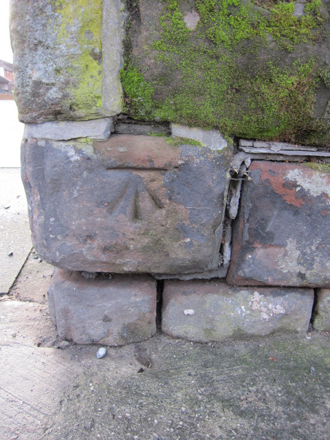 Cut bench mark on the corner of Princes Road and North Hill Street