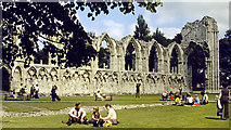 SE5952 : The ruins of St Mary's Abbey by Alan Walker