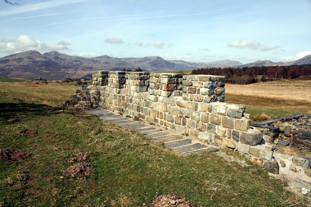 Roman Fort reconstruction at Tomen-y-mur