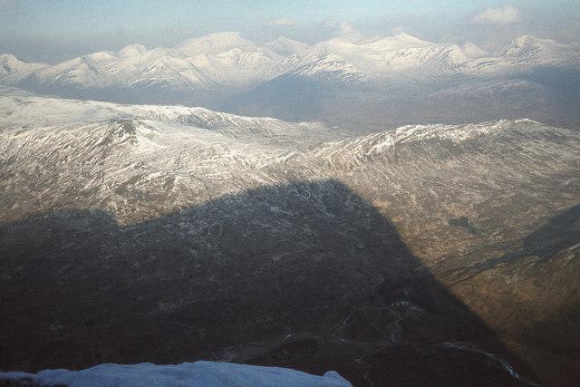 A mountain's shadow