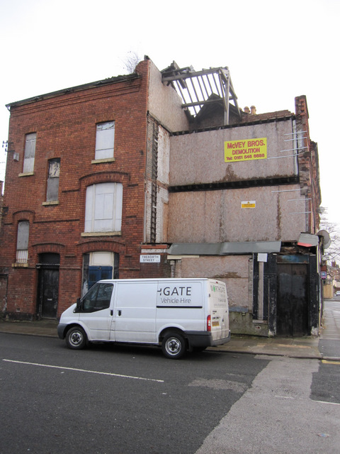 Derelict building on the corner of Treborth Street, Toxteth