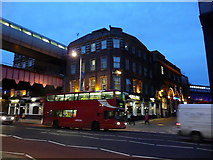 TQ3179 : London: the Wellington, Waterloo, at dusk by Chris Downer
