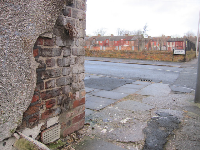 Corner of Rhiwlas Street and a bench mark