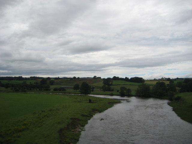 Bend on the river Eden near Great Salkeld, Cumbria