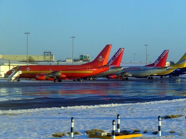 Aircraft at Edinburgh Airport