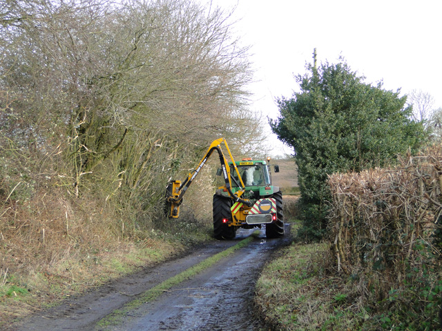 Trimming the hedges at Blyford, Suffolk