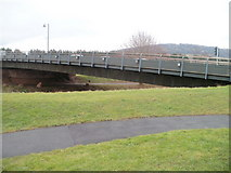 SO5012 : Monmouth : 2004 Monnow Bridge viewed from the north by Jaggery