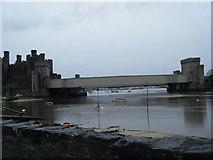 SH7877 : Tubular railway bridge at Conwy by Colin Pyle