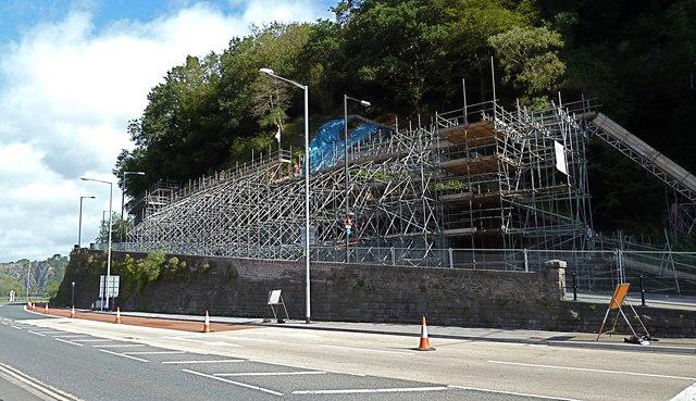 Remedial work at Bridge Valley Road on Bristol's Portway