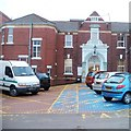 ST3087 : Main doorway into St Woolos Hospital, Newport by Jaggery