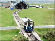 SH7783 : Great Orme Tramway, upper section by Phil Champion