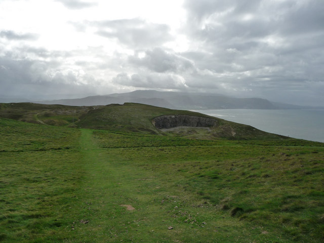 View towards the Bishop's Quarry, the Great Orme