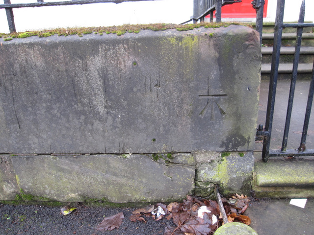 Bench mark outside #5 Windermere Terrace, Prince's Park