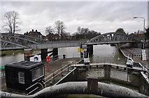 TF3244 : Lock and Railway Bridge by Ashley Dace