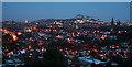 NT2274 : Nightfall over Edinburgh by Anne Burgess