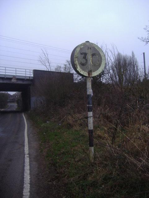 Pre-Worboys 30mph on Bull's Lane, Welham Green