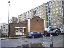 TQ2977 : Church Hall Annexe, Churchill Gardens, Pimlico by PAUL FARMER